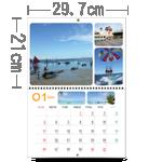 月曆橫A4(萬年曆)